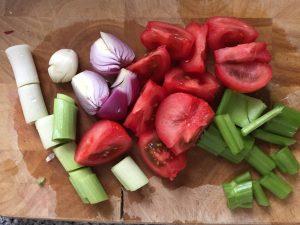 Gemüse Garnelenfond